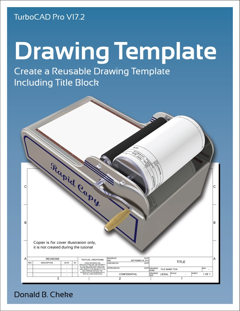 Download turbocad title block for Turbocad drawing template
