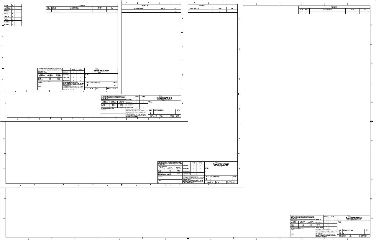 Turbocad gallery for Blueprint sizes